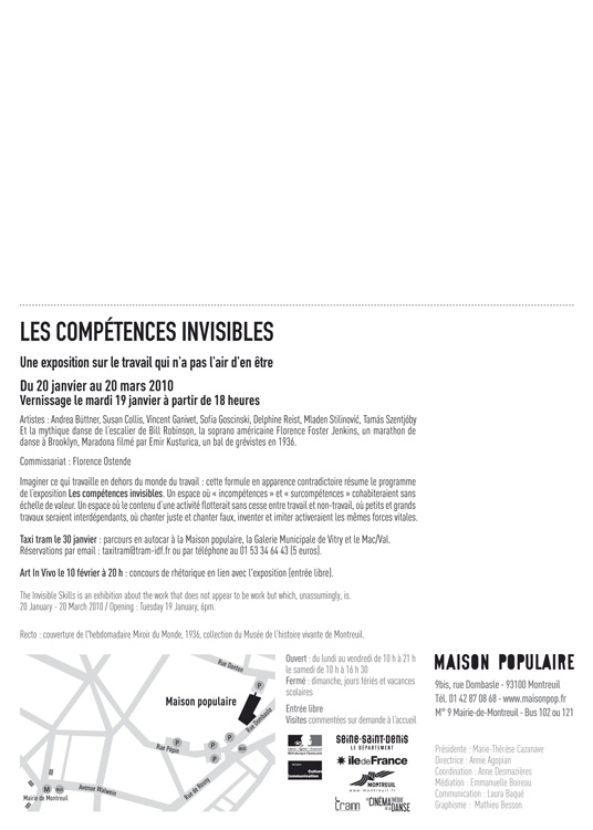 "Invitation for ""The Invisible Skills"", preview."