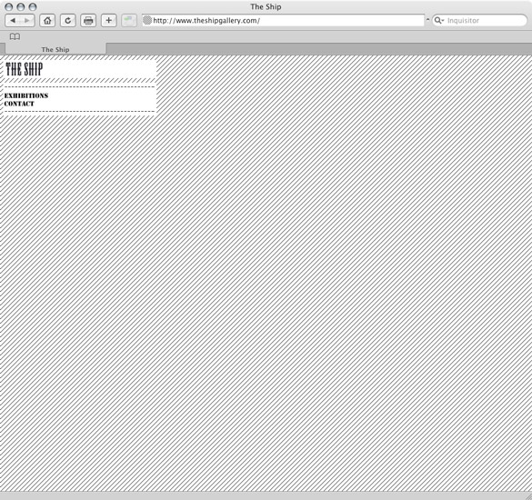 The Ship Gallery, home page - preview