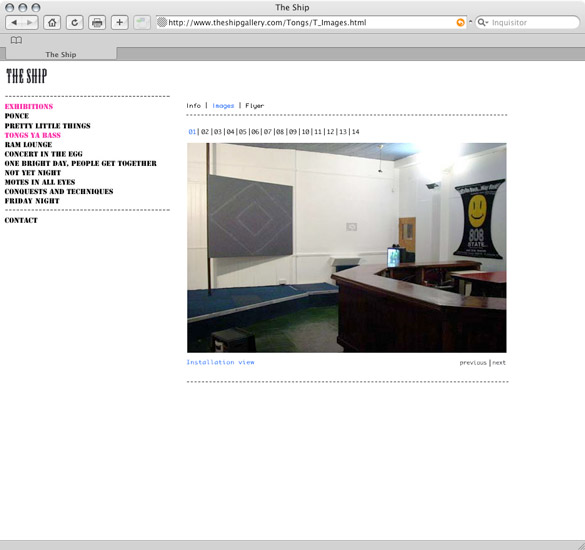 The Ship Gallery, pictures page - preview