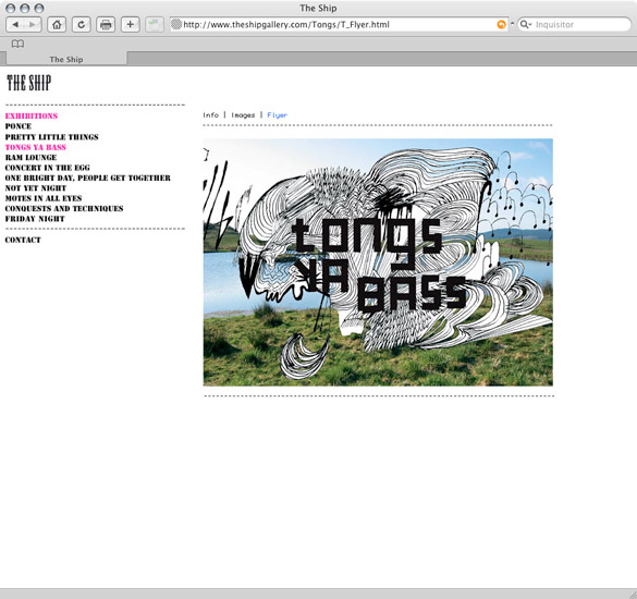 The Ship Gallery, flyer page - preview