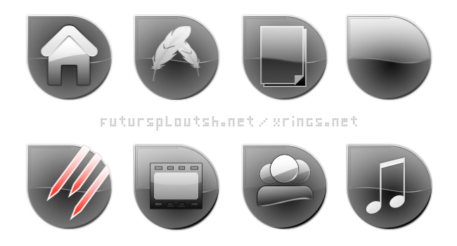 "icones ""iGouttes"" Black - preview."