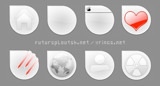 "icones ""iGouttes"" White - preview."
