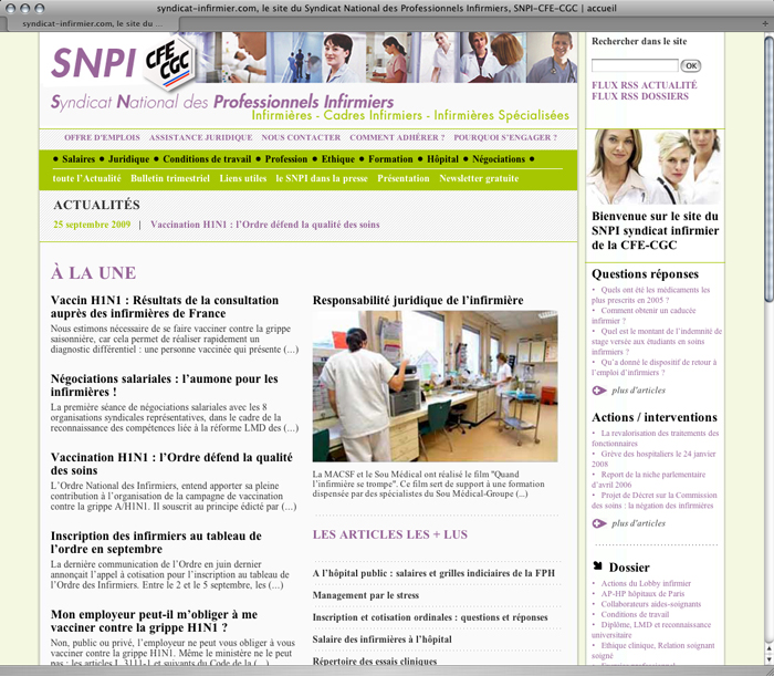 Aperçu (version 2009) – SNPI