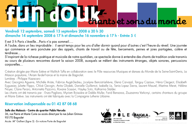 Flyer for Fun Douk, preview.